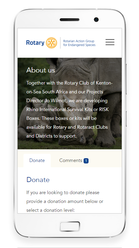 Donorhut mobile friendly visual
